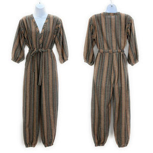 Free People Loveland Jumpsuit XS Striped Tie Front